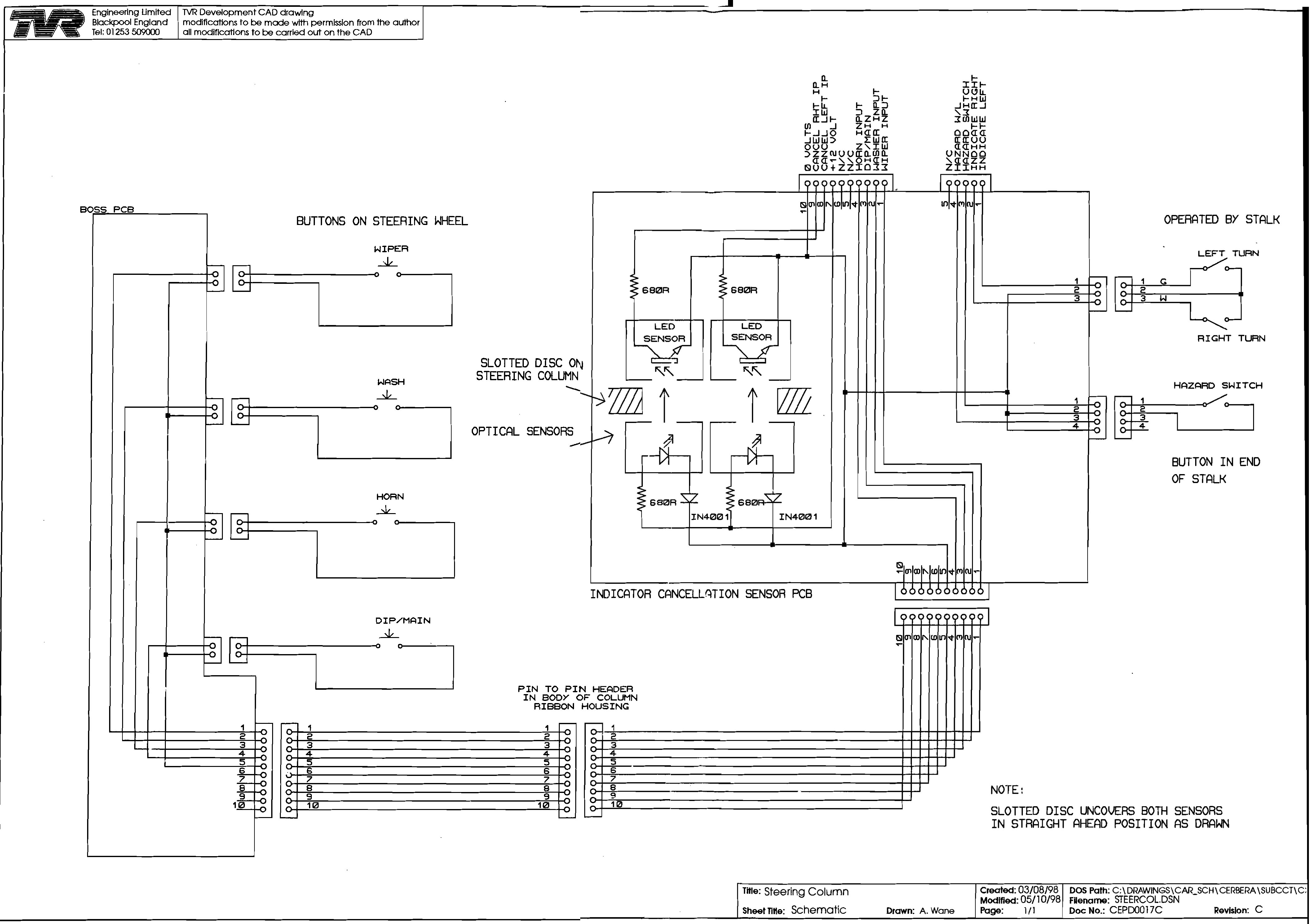 wiring diagrams fuse box · steering column